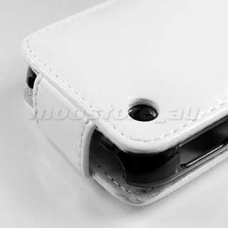 LEATHER CASE COVER POUCH FR BLACKBERRY CURVE 8520 WHITE