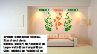 Ƹ̵̡Ӝ̵̨̄Ʒ Floral Trio Giant Wall Decor Art Stickers