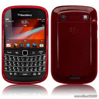 Funda gel para BlackBerry Bold Touch 9900 y 9930 roja desde España