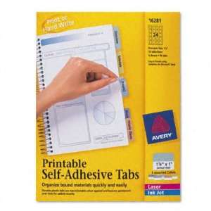 Avery Printable Repositionable Plastic Tabs AVE16281