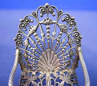 This is for a Vintage Sterling Silver Miniature Doll Furniture Chair