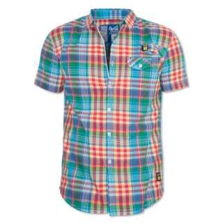 Gio Goi have created this fantastic multi coloured check stokey shirt