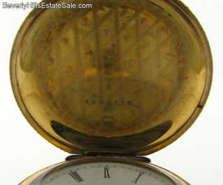 Elgin Hunting Case Multi Gold Applied Pocket Watch