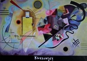 PUZZLE dART 1000 pièces   Kandinsky   Jaune Rouge Bleu
