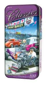 CLASSICS TIN JIGSAW PUZZLE HOT ROD RACING DAN HATALA