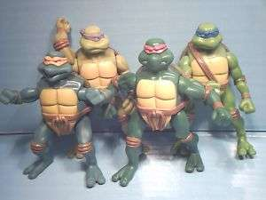 ALL 4 McDONALDS TURTLES McD TEENAGE MUTANT NINJA TURTLES TMNT