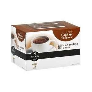 Kig   Cafe Escapes Milk Chocolate Hot Cocoa 12 K Cups   6.35 oz.