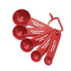 Kitchenaid Cooks Series Measuring Spoons, Red, Set of 5