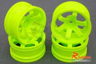 10 RC Car 6 Spoke 9mm Offset 26mm Drift Wheel Rim 4pc