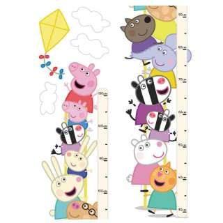 PEPPA PIG SELF ADHESIVE WALL HEIGHT CHART (FREE P+P)