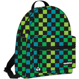 Yak Pak Mini Backpack   Turquoise and Green Checkerboard   Yak Pak