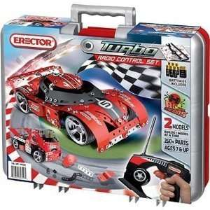 Erector Turbo Radio Control Set 2 Models 260+ Parts Toys