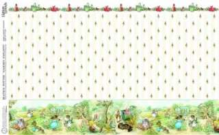 DOLLS HOUSE GARDEN EXPLOITS BEATRIX POTTER WALLPAPER A3