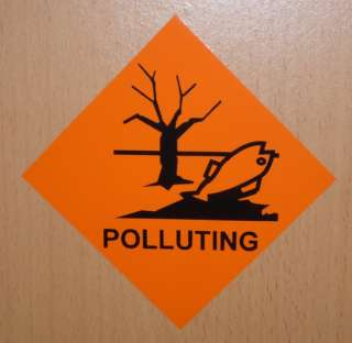 Polluting Warning Stickers   Health Pollution Signs