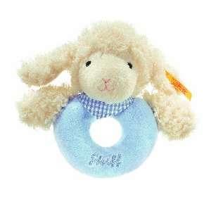 Steiff Sweet Dreams Lamb Grip Toy Blue  Toys & Games