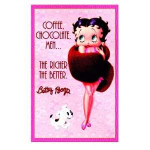 Vandor 10646 Betty Boop Large Tin Sign, Coffee/Chocolate