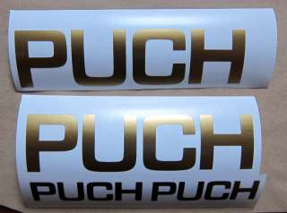 HIGH QUALITY PUCH BIKE FRAME STICKERS / DECALS