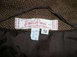 EMILIO PUCCI VINTAGE 60 Completo Tailleur Suit Sz.M