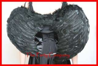 Black / Gothic Angel / Black Swan Fancy Dress Costume