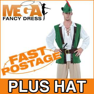 Robin Hood Mens Medieval Fancy Dress Adult Costume