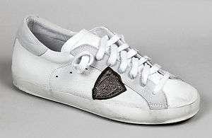Scarpe uomo sneakers basse Philippe Model Griffe bianco pelle estate