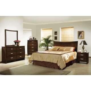 Welton Elaine 3 Piece Queen Bedroom Set with Headboard in Espresso
