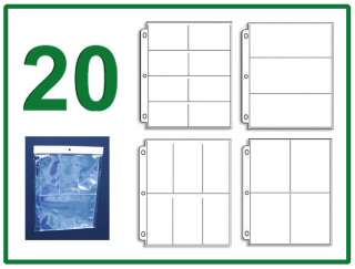 Pack 4 Coupon Binder Organizer   5 Each 8 6 4 3 Pocket Pages