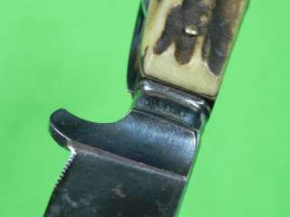 Germany Solingen Early PUMA Silver Hunting Stag Knife w/ Folding Tools