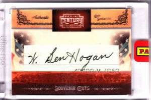 BEN HOGAN Century Collection Cuts Cut Auto Signed 4/5