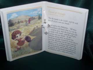 Precious Moments David & Goliath Bible Story Plaque