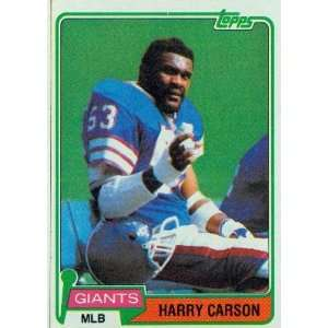 1981 Topps #475 Harry Carson   New York Giants (Football Cards