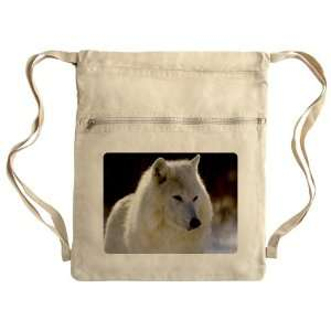 Messenger Bag Sack Pack Khaki Arctic White Wolf: Everything Else