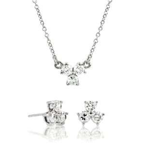 Gift Set: Jennifer Garner Inspired Clover CZ Jewelry Set