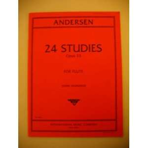 twenty four] studies for flute solo. Op. 33: Joachim Andersen: Books
