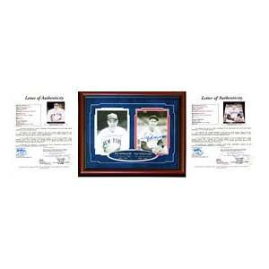 Ted Williams & Joe DiMaggio Autographed / Signed Framed