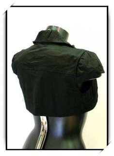 Bolero gilet pr robe bustier soiree T38 neuf VBL1 noir