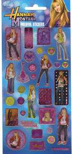 STICKERS DECO SCRAPBOOKING HANNAH MONTANA 01 DISNEY