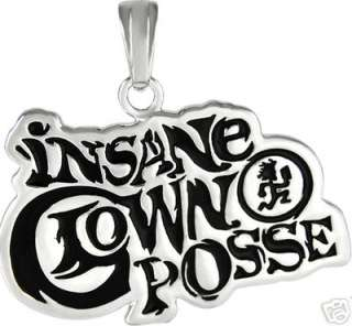 ICP Insane Clown Posse Black & Silver Pendant