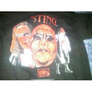 WCW/NWO Wolfpack Sting Black Large T Shirt WWF WCW TNA