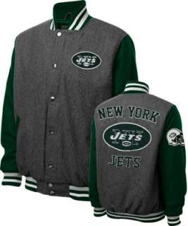 New York Jets Grey Wool Varsity Jacket