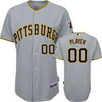 Pittsburgh Pirates Jersey Any Player Big & Tall Road Grey Authentic