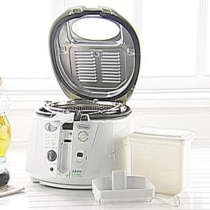 DeLonghi Roto Fryer with Easy Clean Oil Drain System