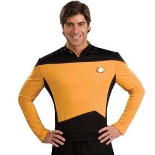 Star Trek The Next Generation Deluxe Gold Shirt Adult Costume, 60274