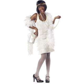 Halloween Costumes Fashion Flapper (White) Adult Costume
