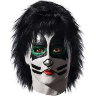 Halloween Costumes KISS   Catman Deluxe Latex Full Mask With Hair
