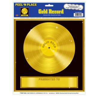 Halloween Costumes Gold Record Peel N Place
