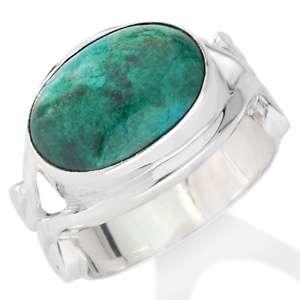 Gems™ East West Oval Gemstone Sterling Silver Ring