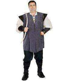 Robin Hood Plus Size Adult Costume  Mens Renaissance Costume