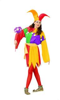 costumes in shopping cart court jester