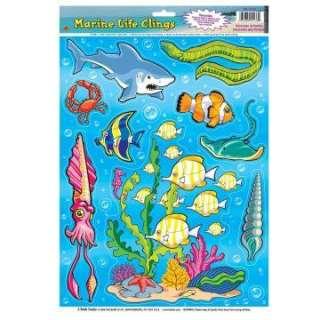 Sea Life Window Clings (1 sheet)     1628541